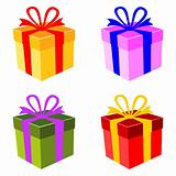 Vector colorful gift box set
