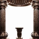 bronze column