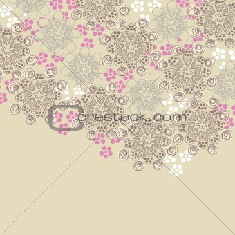 Brown and pink floral design