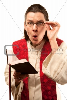 Pastor finding something shocking in the Bible