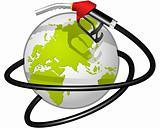 Terrestrial globe obvoluted Fuel hose