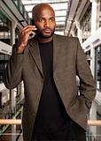 African Businessman on phone
