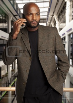 African Businessman on phone
