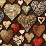 Heart shaped wooden things
