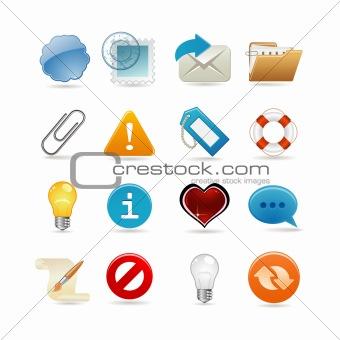 Sixteen universal icons