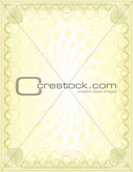 A luxury golden blank (cetificate)A luxury golden blank (cetificate)
