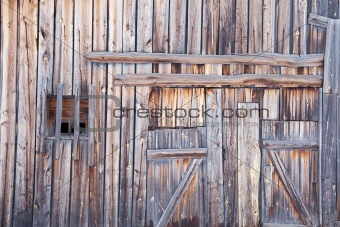 Wooden wall old country barn