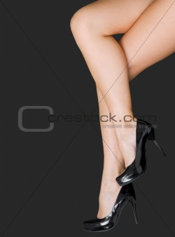 Pair of beautiful female legs