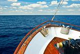 Pleasure boat bow