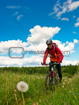 Cross-country biker