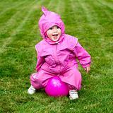 Toddler on grass
