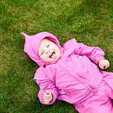 Toddler on grass