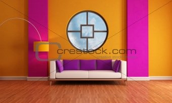 purple and orange lounge