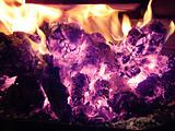 Fire and Flames in fireplace