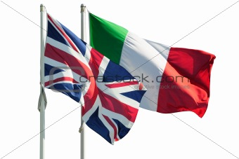 Great Britain and Italy flags