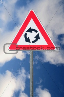 Round about road signs