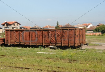 Abandoned rail car