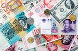 International currencies background