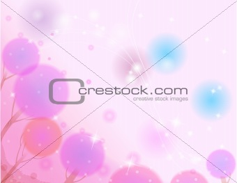 abstract pink tree background