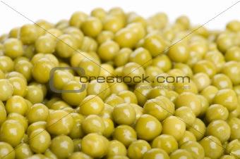 green peas macro
