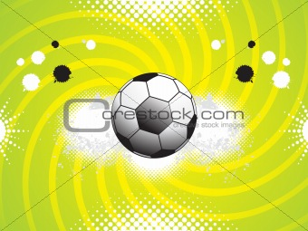 abstract sports grunge based background with football