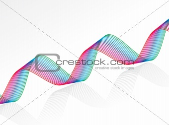 abstract rainbow colour based wave lines