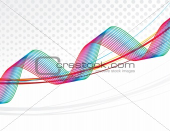 abstract rainbow waves lines with the blank space of sample text