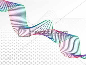 abstract curved wave rainbow lines background with the empty space for sample text