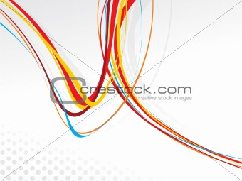 abstract colourful rainbow wave lines with blank space of sample text