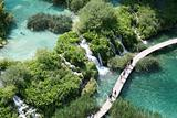 The Plitvice Lakes in the Plitvice Lakes municipality, in the mountainous region of Lika.