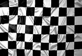 Checkered pattern winner flag.