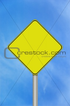 Blank caution sign