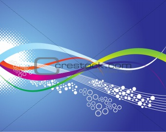 a colourful abstract wave vector background