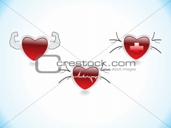 abstract red color based hearts medical theme based concept vector illustration