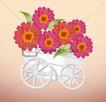 trolley and flower