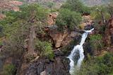 The Epupa Falls lie on the Kunene River, on the border of Angola and Namibia