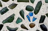 Green blue glass wall
