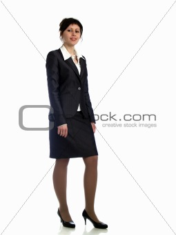 Business lady on heels