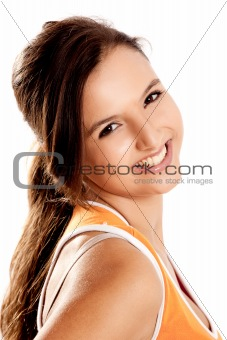 Beautiful teenager smiling