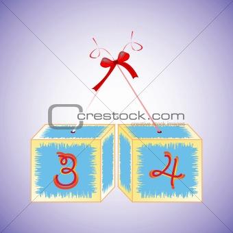 cubes alphabet 34