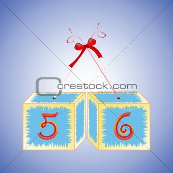 cubes alphabet 56