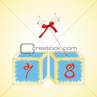 cubes alphabet 78