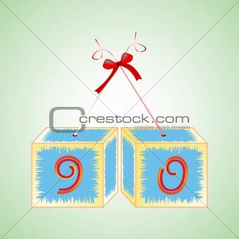 cubes alphabet 90