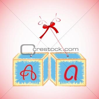cubes alphabet A
