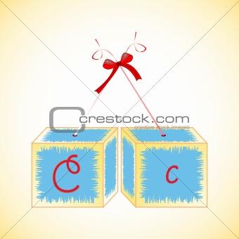 cubes alphabet C