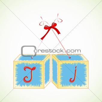 cubes alphabet J