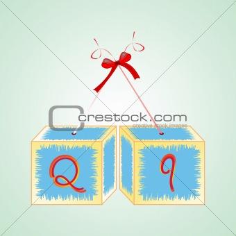 cubes alphabet Q