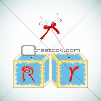 cubes alphabet R