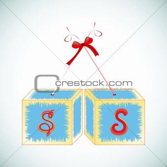 cubes alphabet S