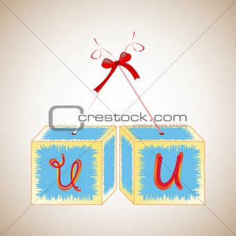 cubes alphabet U